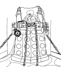 doctor dalek coloring pages coloring pages