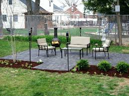 Lowes Backyard Ideas Patio Ideas Exterior Stacked Grey Stone Patio With Stone Bench