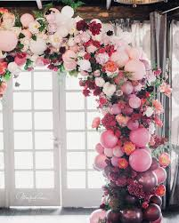 wedding arches toronto balloon and floral wedding arch what an interesting way to use