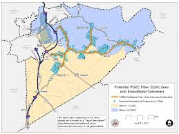 Circuit Court Map Potential Pgec Fiber Optic Linesand Broadband Customers