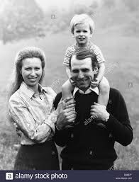 princess anne princess anne and her husband captain mark phillips with their son