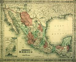 Map Mexico City by Stieler Map Of Mexico With Mexico City 1885