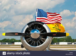 Gadson Flag Wwii Fighter Plane Flying The American Flag And The Gadsden Flag