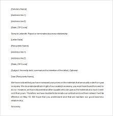 9 partnership termination letter templates u2013 free sample example