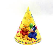 in party supplies 6pcs winnie paper caps party supplies happy birthday hat party