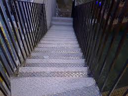 slippery metal stairs surefoot systems uk ltd antislip treatments