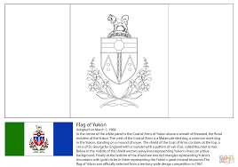 flag of yukon coloring page free printable coloring pages