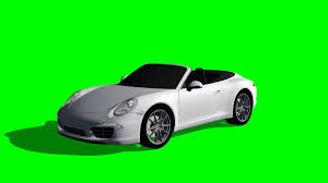 porsche 911 in rotation green screen effects youtube