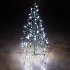 lighted cool white led outdoor tree