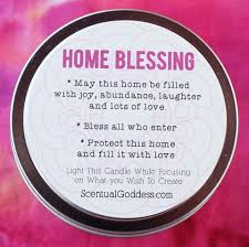 blessing for the home home blessing intention candle bring blessings into your home