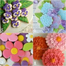 Easy Icing Flowers - twenty decorated flower cookie tutorials for mother u0027s day u2013 the