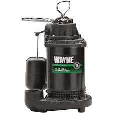 wayne cast iron submersible sump pump u2014 3800 gph 1 3 hp 1 1 2in