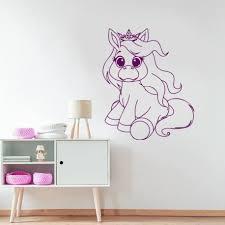 stickers deco chambre sticker déco licorne stickers muraux décoration chambre enfant