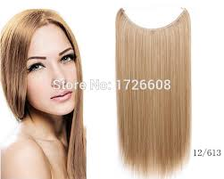 invisible line hair extensions flip hair weft extension no clip no glue fish line straight halo