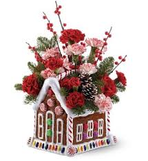 port florist teleflora s gingerbread house bouquet in warren mi j j s