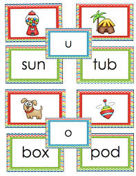 words cards vowel card cvc words literacy centers cs