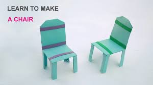 How To Make A Cardboard Chair Learn To Make A Paper Chair Easy Steps Youtube