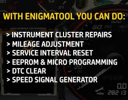enigmatool instrument cluster repair and mileage correction tool