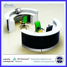 Semi Circular Reception Desk Circular Office Desks Circular Meeting Table With Wire Management