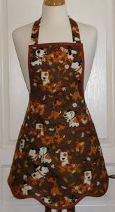 retro thanksgiving apron pilgrim fall apron kitsch apron