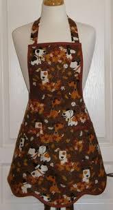 retro thanksgiving apron pilgrim fall apron kitsch apron