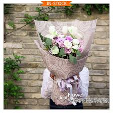 where can i buy packing paper pp fiber colorful wedding decoration flower non woven packing paper