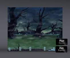 spooky pixel background spooky cemetery handpainted game background