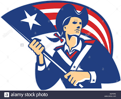 A American Flag Pictures Illustration Of An American Patriot Holding Stars And Stripes Flag