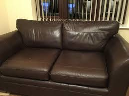 Leather Sofas Cannock Next Two Seater Leather Sofa Brown No Rips Great Condition In