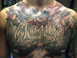 35 cloud tattoos on chest