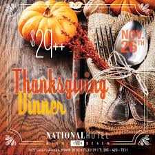 thanksgiving dinner fort lauderdale thanksgiving offerings around south florida miami food pug
