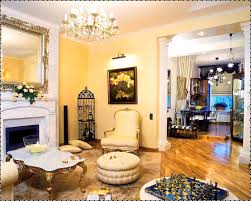 gold leaf metallic finish design trends living room hotel lobby