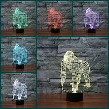 aliexpress buy 3d orangutans illusion light gorilla king