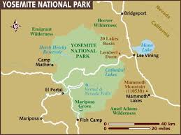 map usa lonely planet map of yosemite national park
