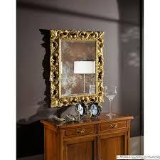specchi con cornice specchio con cornice barocca artigianale con intarsi in legno