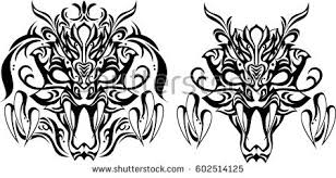 creative design tattoo background decoration can stock vector