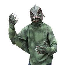 Black Mask Halloween Costume Complete Sea Creature Swamp Black Lagoon Monster Mask