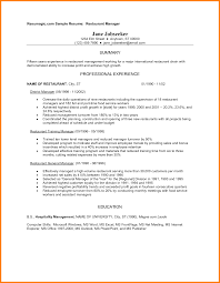 Waitress Sample Resume by Restaurant Job Resume Sample Resume Samples Restaurant Industry