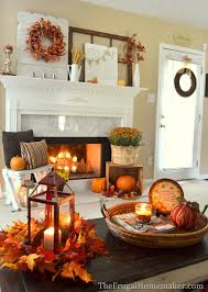 Home Decor Centerpieces Fabulous Fall Decor Ideas Mantels Frugal And Inspiration
