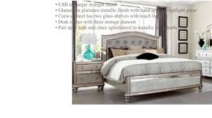 bling collection bedroom set 204181q