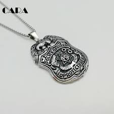 aliexpress pendant necklace images Cara new 316l stainless steel eagle police pd badge pendant jpg