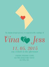 sample state wedding invitations washington d c invitations