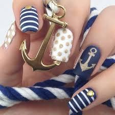 60 best nail art nautical images on pinterest nautical nail art
