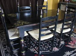 White Distressed Dining Table Furniture Impressive Wood And Black Dining Table Black Wooden