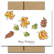 boxed thanksgiving cards for business fall colors