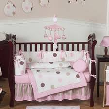 Pink And Brown Damask Crib Bedding Pink Crib Bedding Sets For And Boys