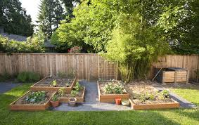 Backyard Vegetable Garden Ideas Small Backyard Vegetable Garden House Design With Diy Wood Raised