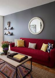 red couch decor how to match a room s colors with bold fabric diana living