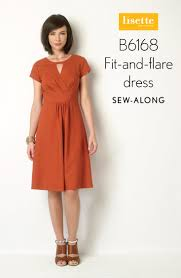 dress pattern fit and flare sew along b6168 fit and flare dress day 1 blog lisette