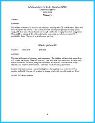 Sample Resume For Teacher Assistant 100 Resume Format In Doc For Teachers A Program Montessori Teacher